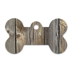 Wood Fence Dog Tag Bone (two Sides)