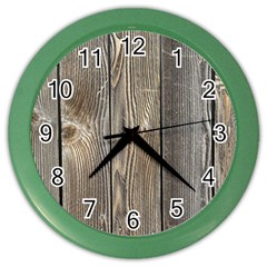Wood Fence Color Wall Clocks