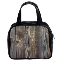 Wood Fence Classic Handbags (2 Sides)
