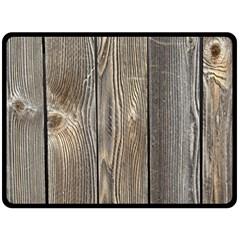 Wood Fence Fleece Blanket (large)