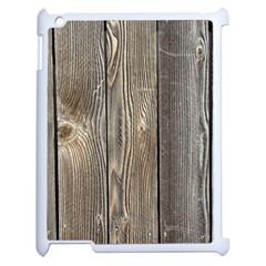 WOOD FENCE Apple iPad 2 Case (White)