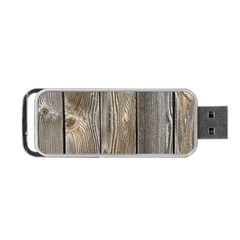 Wood Fence Portable Usb Flash (two Sides)