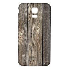 Wood Fence Samsung Galaxy S5 Back Case (white)