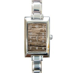 Weathered Wood Rectangle Italian Charm Watches
