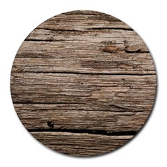 Weathered Wood Round Mousepads