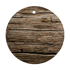 Weathered Wood Ornament (round)