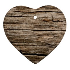 Weathered Wood Ornament (heart)
