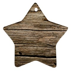 Weathered Wood Ornament (star)