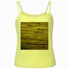 Weathered Wood Yellow Spaghetti Tanks