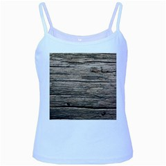 Weathered Wood Baby Blue Spaghetti Tanks