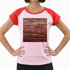 Weathered Wood Women s Cap Sleeve T Shirt