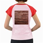 WEATHERED WOOD Women s Cap Sleeve T-Shirt Back
