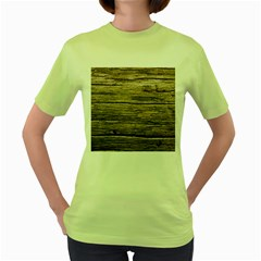 Weathered Wood Women s Green T Shirt