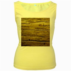 Weathered Wood Women s Yellow Tank Tops