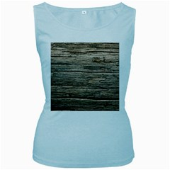 Weathered Wood Women s Baby Blue Tank Tops