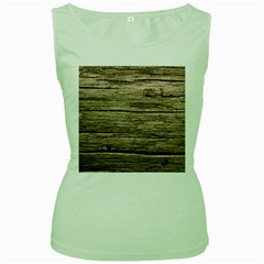 Weathered Wood Women s Green Tank Tops