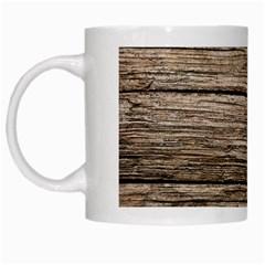 Weathered Wood White Mugs