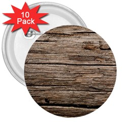 Weathered Wood 3  Buttons (10 Pack)