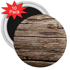 Weathered Wood 3  Magnets (10 Pack)