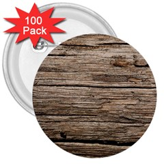 Weathered Wood 3  Buttons (100 Pack)