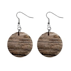 Weathered Wood Mini Button Earrings