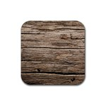 WEATHERED WOOD Rubber Coaster (Square)  Front
