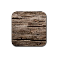 Weathered Wood Rubber Square Coaster (4 Pack)