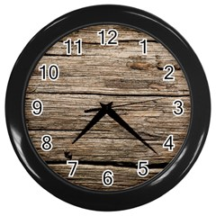 Weathered Wood Wall Clocks (black)