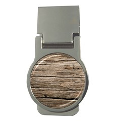 Weathered Wood Money Clips (round)