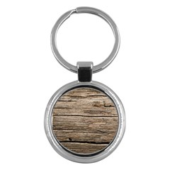 Weathered Wood Key Chains (round)
