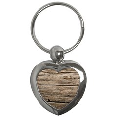 Weathered Wood Key Chains (heart)