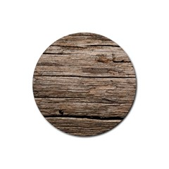 Weathered Wood Rubber Coaster (round)