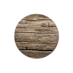Weathered Wood Magnet 3  (round)