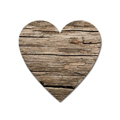 Weathered Wood Heart Magnet