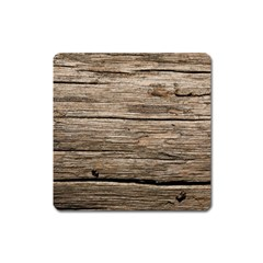 Weathered Wood Square Magnet