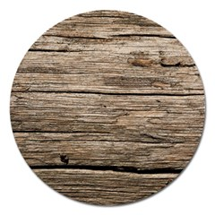 Weathered Wood Magnet 5  (round)