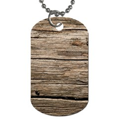 Weathered Wood Dog Tag (one Side)