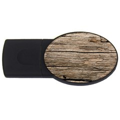 Weathered Wood Usb Flash Drive Oval (2 Gb)
