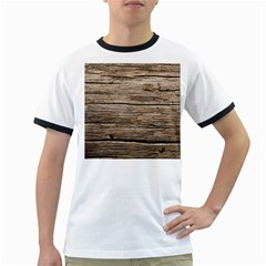 Weathered Wood Ringer T Shirts