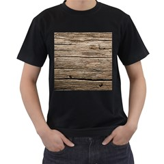 Weathered Wood Men s T Shirt (black) (two Sided)