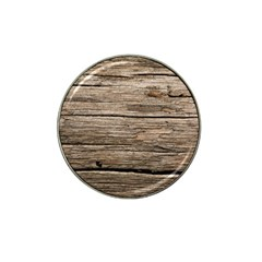 Weathered Wood Hat Clip Ball Marker