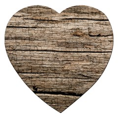 Weathered Wood Jigsaw Puzzle (heart)