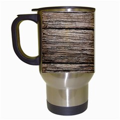 Weathered Wood Travel Mugs (white)