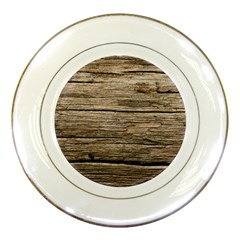 Weathered Wood Porcelain Plates