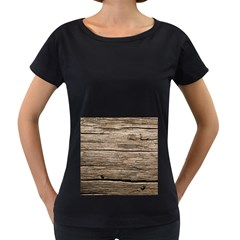 Weathered Wood Women s Loose Fit T Shirt (black)