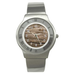 Weathered Wood Stainless Steel Watches