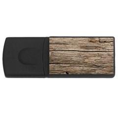 Weathered Wood Usb Flash Drive Rectangular (4 Gb)