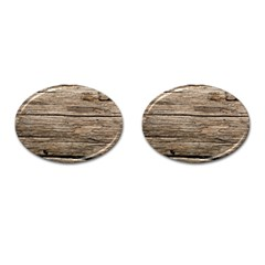 Weathered Wood Cufflinks (oval)