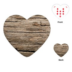 Weathered Wood Playing Cards (heart)
