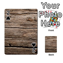 Weathered Wood Playing Cards 54 Designs